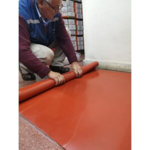ROLLO GOMA SILICONA 60+-5 SHORE A – COLOR ROJO